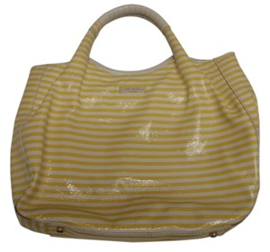 Kate Spade Vintage Rare Satchel in stripes Yellow