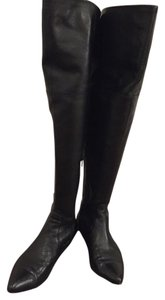 Renvy Over The Knee Leather Black Boots