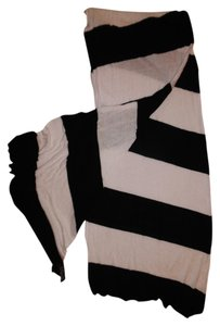 Forever 21 Striped Thin Lightweight Wide Boho Scarf