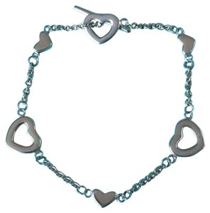 Tiffany & Co. Authentic Tiffany & Co. Sterling Silver Heart Lariat Toggle Bracelet