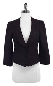 Nanette Lepore Black Red Textured Suit Jacket