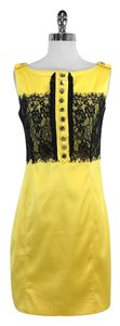 Karen Millen short dress Yellow Black Lace Sleeveless on Tradesy