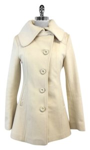 Mackage Cream Wool Cashmere Blend Coat