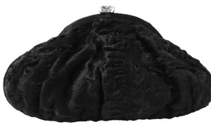 Judith Leiber Persian Lamb Handbag Fur Black Clutch