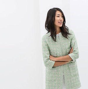 Zara Spring Green Coat