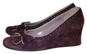 Vaneli Purple Suede Wedges