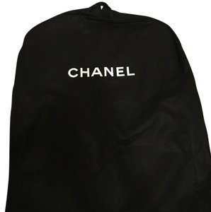 Chanel New Chanel CANVAS Black Travel Storage Garment Bag Front Zip 27 X 70