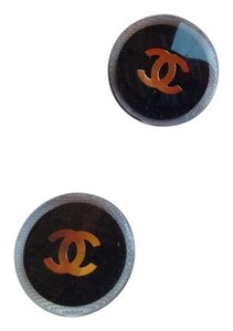Chanel 2 Chanel Replacement Black buttons Gold CC Logo