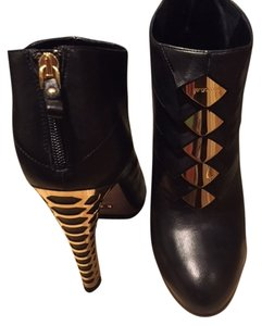 Sergio Rossi Metal Heel Black with Gold Boots