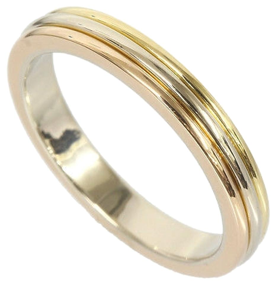 cartier yellow gold rose gold white gold trinity wedding band 18k b4052266 ring tradesy - Cartier Wedding Ring