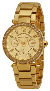 Michael Kors Crystal ave Gold toe Stainless Steel Designer Ladies Casual Watch