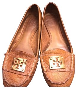 Tory Burch Cognac Loafers Tan Flats