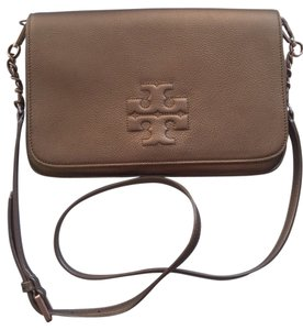 Tory Burch Thea Bronze Clutch Strap 18169722 Fold-over Crossbody Shoulder Bag