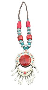 Gorgeous, red Statement necklace