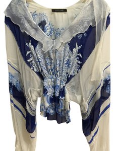 Roberto Cavalli Top White and blue