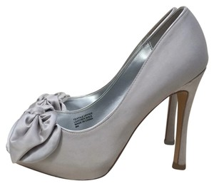 Audrey Brooke Silver Grey Platforms
