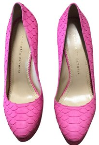Charlotte Olympia Pink Platforms
