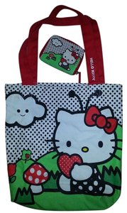 Claire's Hello Kitty Wallet Tote in White