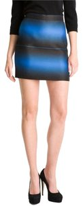 Marc by Marc Jacobs Striped Ombre Above Knee Night Out Mini Skirt Blue