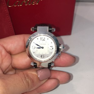 Cartier Cartier Watch With Diaminds~Comes In Orginial Packaging With Extra Orange Crock Strap