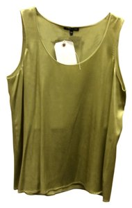 Eileen Fisher Silk Size 8 Top Olive Green