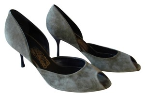 Salvatore Ferragamo New Never Worn D'orsay Olive green Pumps