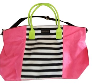 Victoria's Secret Travel Carry Large pink green black Travel Bag