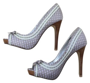 Not Rated Sliver grey with white dots Platforms