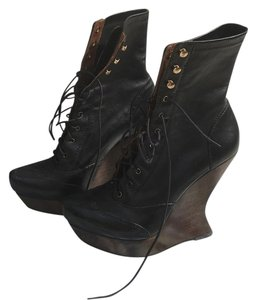 Alexander McQueen Black w/ dark brown heel Boots
