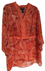 Maggie Barnes Top Orange