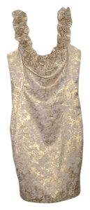 London Times Metallic Fitted Dress