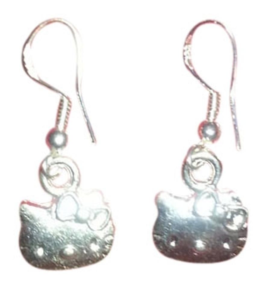 Sanrio 925 Silver New & Rare Hello Kitty Dangle Earrings - Tradesy