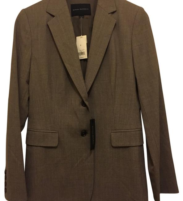 Item - Taupe Lightweight Wool Jacket Skirt Suit Size 8 (M)