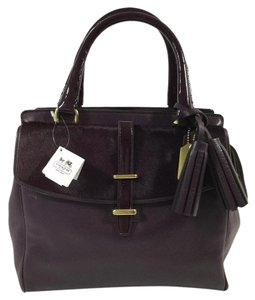 Coach Legacy Haircalf Satchel in Aubergine