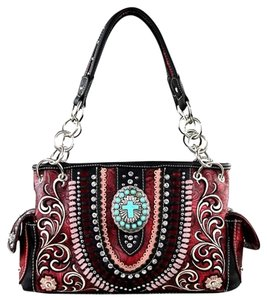 Montana West Boot Scroll Satchel in Red