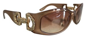 Gucci VINTAGE Gucci sunglasses with horsebit logo encrusted with crystals