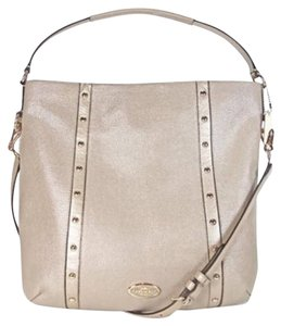 Coach Isabelle Leather Purple 35809 Hobo Bag