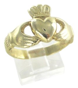 14K SOLID YELLOW GOLD CLADDAGH RING 5.4 GRAMS IRISH LOVE FRIENDSHIP LOYALTY BAND