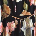 Helene Blake Black W/ Tropical Flower Print Long Casual Maxi Dress Size 8 (M) Helene Blake Black W/ Tropical Flower Print Long Casual Maxi Dress Size 8 (M) Image 3