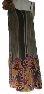 Diane von Furstenberg short dress Multi/Green/Fuschia/Gold/Pink Silk Fully Lined One Look on Tradesy
