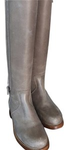 Hermes leather boots gray Boots