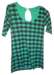 dELiA*s T Shirt green plaid