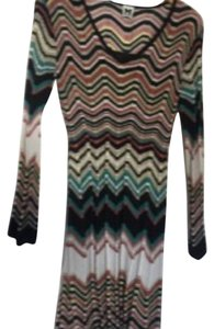 M Missoni short dress Black, brown, teal on Tradesy
