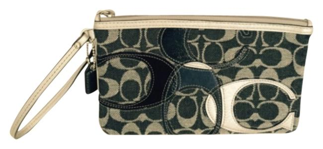 Coach Multicolor Applique Denim Wristlet Large Wallet Coach Multicolor Applique Denim Wristlet Large Wallet Image 1