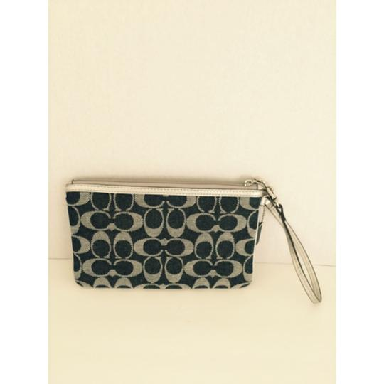Coach Applique Denim Wristlet Large Image 3