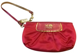 Coach Fuchsia/ Gold Trim Clutch