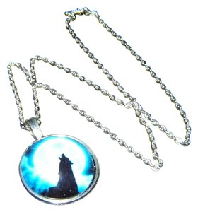 Other Blue Moon Howling Wolf Necklace Free Shipping