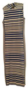 Blue/white striped Maxi Dress by bebe Pencil