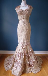 Kari Chang Couture Kari Chang Couture Lace W/ Bolero Jacket Wedding Dress