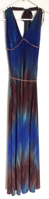 Blue and brown Maxi Dress by Ruby Rox Image 2